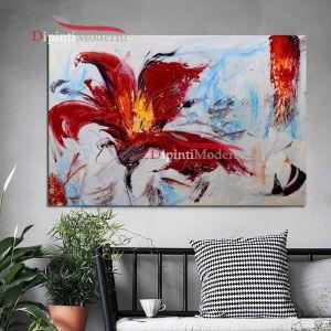 quadri con fiori petali rossi
