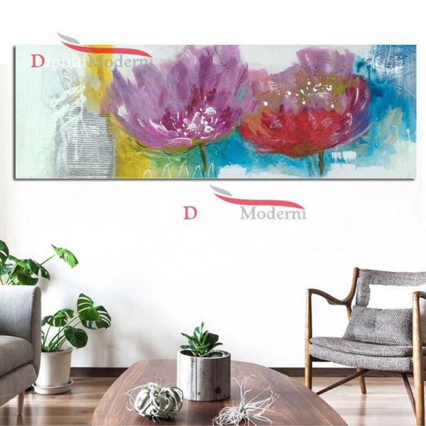 Dipinti fiori colorati astratti