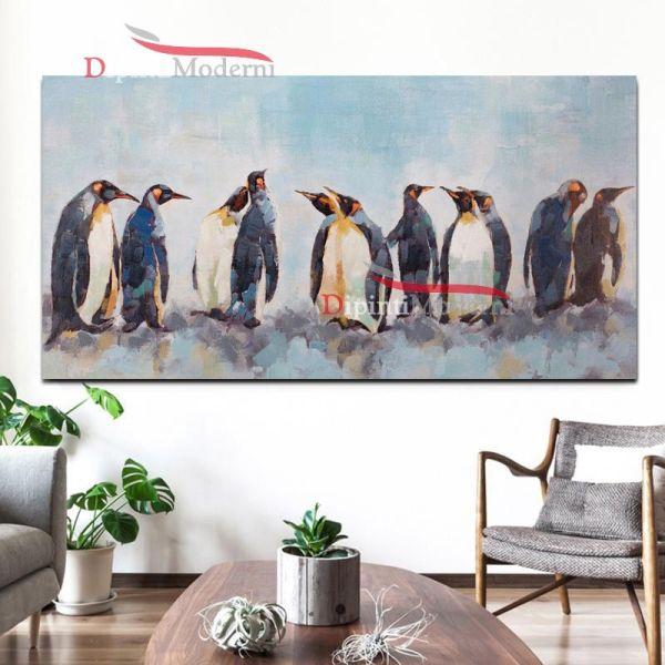 Dipinti su tela pinguini