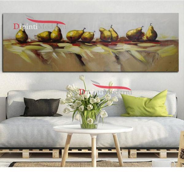 Quadri dipinti su tela tavolo pere frutta