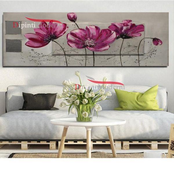 Quadro design moderno decorativo fiori lilla