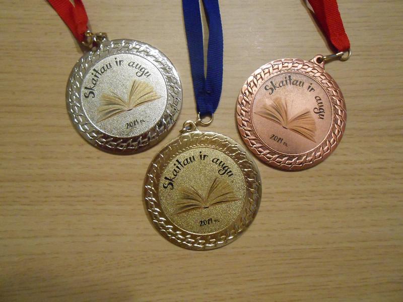 Medaliai pamokai