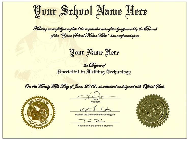Order Fake Welding Certificate Online Diplomas And More