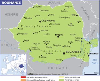 Map of Romania (Souce » France, June 2021)