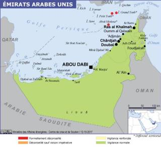 Map of the United Arab Emirates (Source » France 2021)