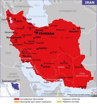 Map of Iran (Source » France, June 2021)