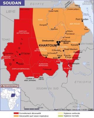 Map of Sudan (Source » France, June 2021)