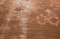 Discharged brown-orange shibori