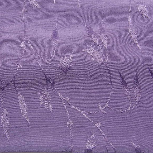 Eggplant solid hand-dyed rayon jacquard