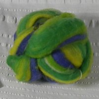 Striped Roving, 1-oz ball, Violet-green-yellow colors