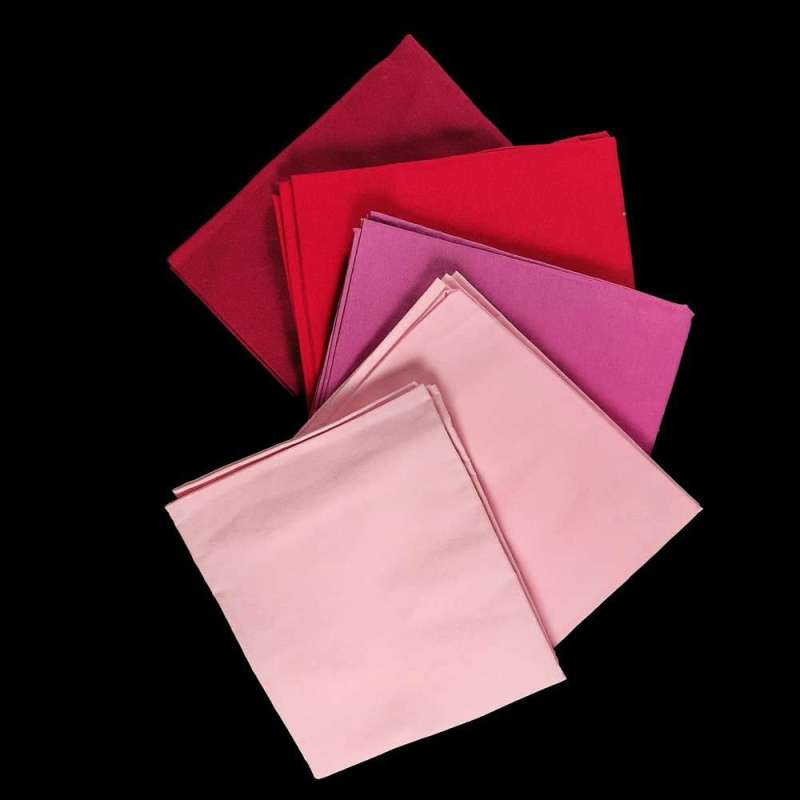 product image red and pink fat quarters flip side