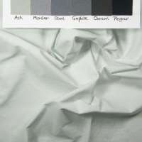 Ultra light grey with hints of green solid hand-dyed fabric