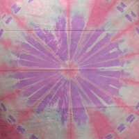 Discharge square in pink and purple