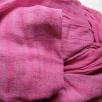 Pink on pink arashi shibori hand-woven Indian cotton scarf