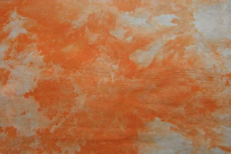 Snow Dyed Orange Broadcloth