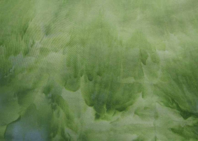"""Snow dyed green stretch sateen 56"""" wide"""