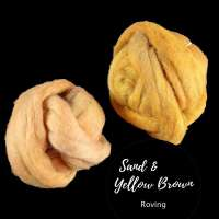Sand and yellow-brown roving