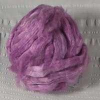 Roving, Tussah Silk, per yard, med rose, feb2019