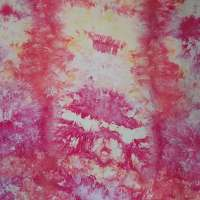 Sunny floral color snow-dye full width