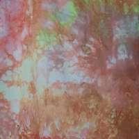 Orange-rose snow-dye detail