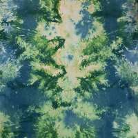 Green, blue, yellow and white snow-dye full width