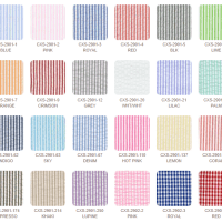 """Seersucker wht/wht stripe is 55% combed cotton, 45% polyester, 56"""" wide, and 2 oz per square yard"""