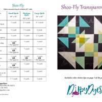 Shoo-fly transparency pattern front and back