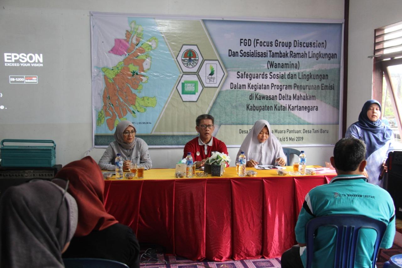 FGD dan Sosialisasi Tambak Ramah Lingkungan di Desa Sepatin pada tgl. 28 April 2019