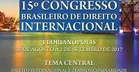 Call for Papers: 15° Congresso Brasileiro de Direito Internacional