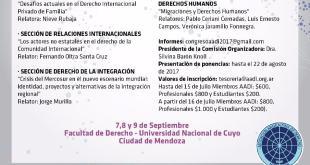 XXIX CONGRESO ARGENTINO DE DERECHO INTERNACIONAL – Mendoza, República Argentina – 7, 8 y 9 de septiembre de 2017