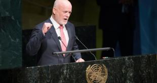 El presidente del 71º periodo de sesiones de la Asamblea General de la ONU, Peter Thomson. Foto: ONU/Manuel Elias.