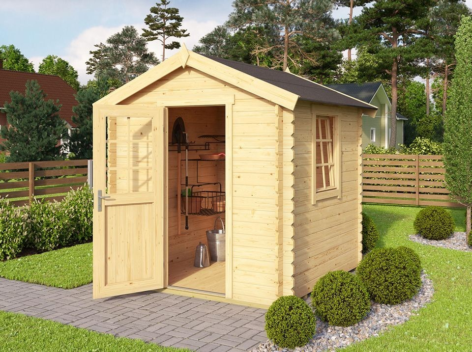cabane de jardin chester 4m2 28mm