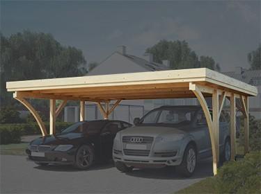 garage bois carport aluminium et bois