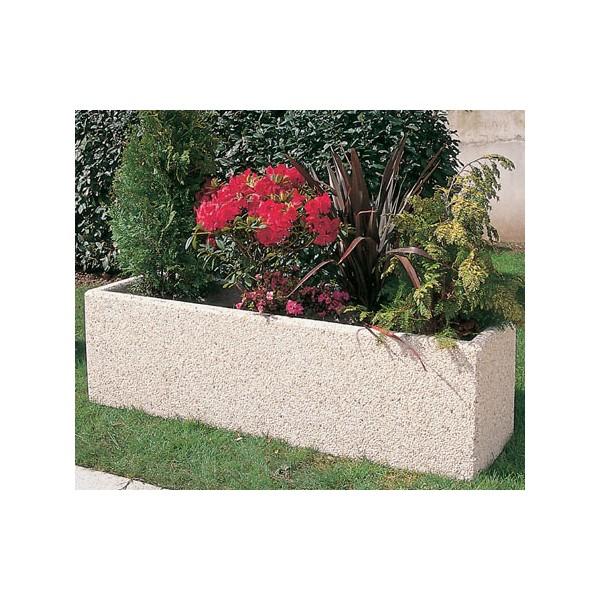 jardiniere beton tournesol finition charente 175x50xh50 cm