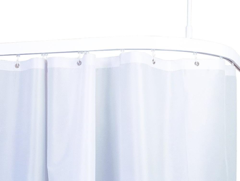 shower curtain flame retardant white