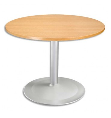 table ronde diametre 100 cm epaisseur 2 5 cm pied tulip diametre 80