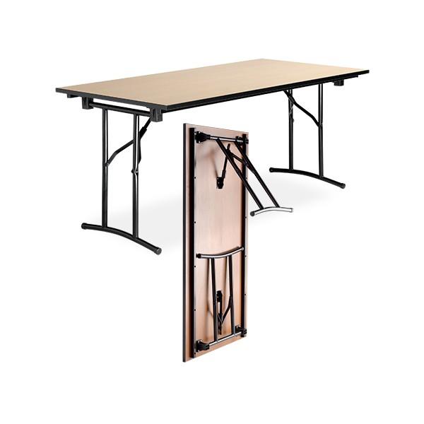 table pliante polyvalente diane melamine chant pvc 160x80 cm