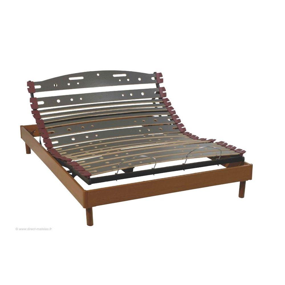 sommier relaxation electrique d m uniback mono 140x190 finition merisier
