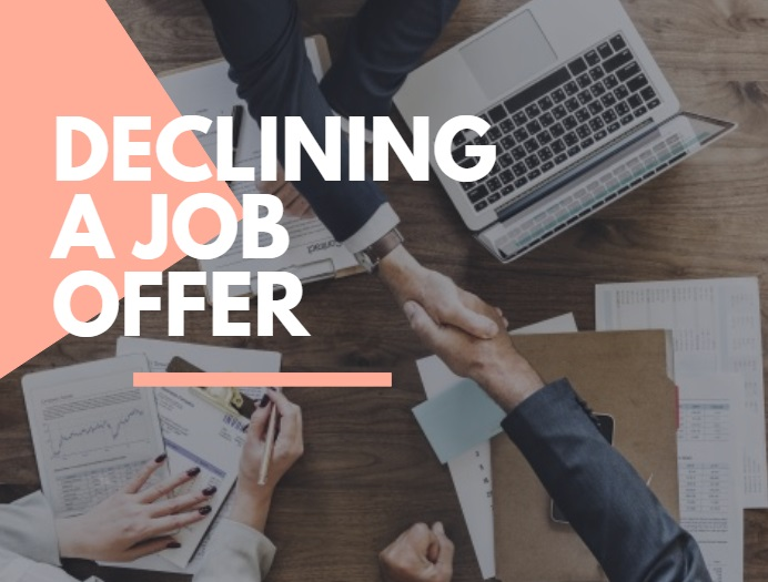 Declining a job offer advice in Wiltshire
