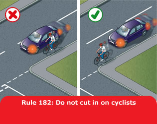 Don't cut up cyclist