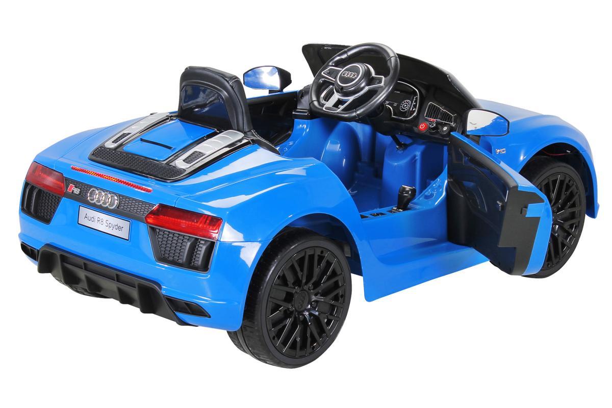 VOITURE Lectrique Enfant AUDI R8 Spyder Bleu