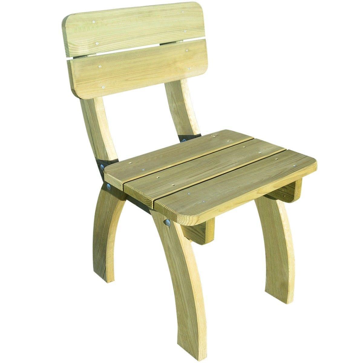 TABLE Avec Banc Et Chaises Type Pique Nique Bois Massif