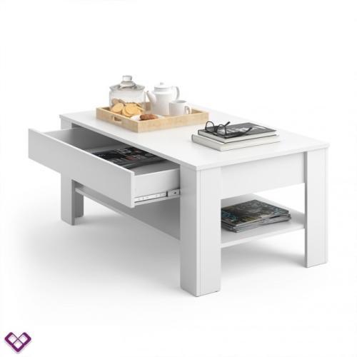 table basse design blanche modele kiel