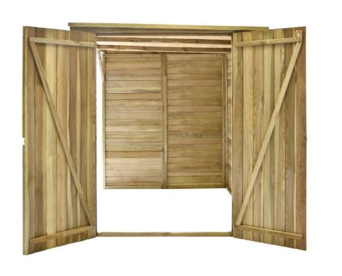 abri rangement de jardin adossable 315 cm en bois