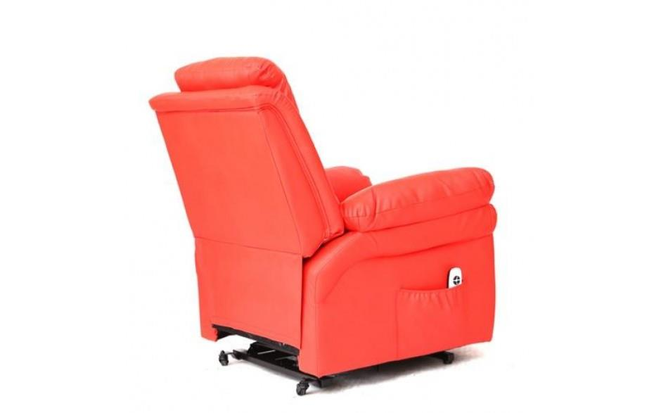 simple fauteuil inclinable massant et chauffant lectrique en cuir rouge redcool with fauteuil inclinable