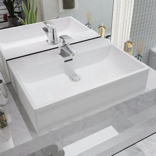 Lavabo Ceramique Salle De Bain 60 X 42 Cm A Poser