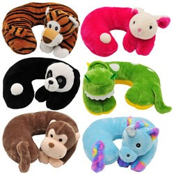 blackcanyon outfitters bco6878 childrens poly fill animal neck pillow assortment