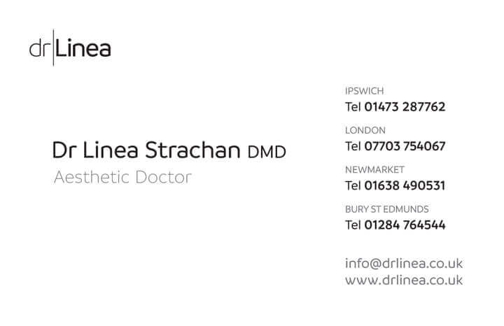 Dr Linea Business Card back