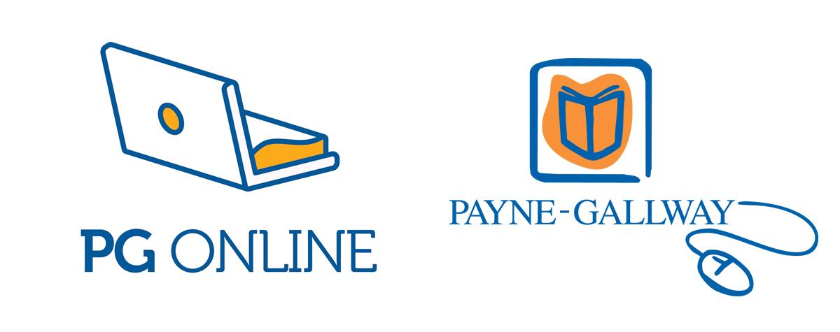 logo design, brand migration, Payne-Gallway, PG-Online