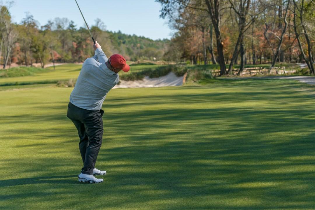 Golfer playing at Old Toccoa Farm Golf Resort in Blue Ridge, GA